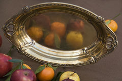 Antique Fruit Plate Royalty Free Stock Photography