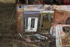 Antique fuel pump Stock Image