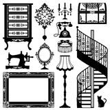 Antique furniture. Antique decorative furniture. Vector illustration Royalty Free Stock Photo