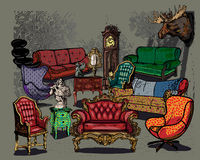Antique Furniture Stock Photography