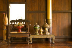 Antique furniture. The northern part of Thailand Royalty Free Stock Image