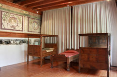 Antique furniture. Antique noble bedroom furniture in Italy during the Renaissance Stock Images