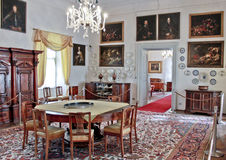 Antique furniture. Antique noble living room furniture in Italy during the Renaissance Stock Images
