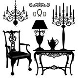Antique furniture Stock Images