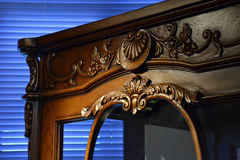 Antique furniture. Closeup with spot light Stock Images