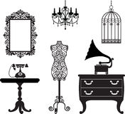 Antique furniture vector illustration