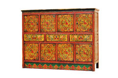 Antique furniture. Traditional cabinet piece from east asia with old pattern Stock Photo