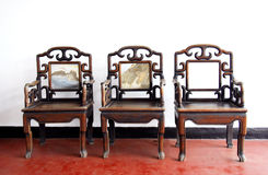 Antique furniture. Chinese antique ming style furniture chair made from elm wood Royalty Free Stock Images