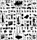 Antique Furniture And Objects Hundred Vector Lar Royalty Free Stock Photography