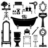 Antique furniture. Bathroom. Royalty Free Stock Photos