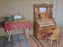 Antique furniture from an old west movie set Royalty Free Stock Photo