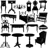 Antique furniture vector 2 Royalty Free Stock Photo