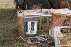 Antique gas pump and truck Stock Image