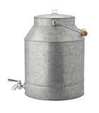 Antique Galvanized Water Cooler Royalty Free Stock Photos