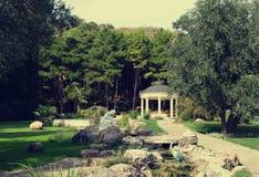 Antique garden in Aivazovsky park, Partenit, Crimea Royalty Free Stock Photography