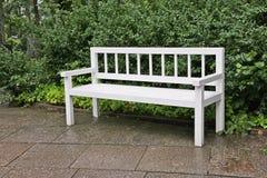 Antique garden bench Stock Images