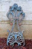 Antique Garden Trellis. Antique wrought iron garden trellis Stock Photography