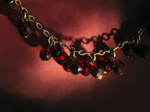 Antique garnet necklace Royalty Free Stock Photo