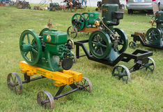Antique gas engines at an annual agricultural event in paducah Royalty Free Stock Photos