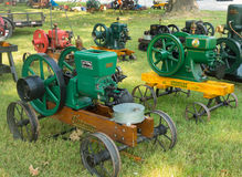 Antique gas engines at an annual agricultural event in paducah Royalty Free Stock Photography