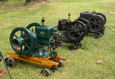 Antique gas engines at an annual agricultural event in paducah Stock Images