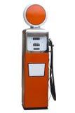 Antique Gas Pump. Orange Antique Gas Pump Isolated on White Stock Images