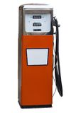 Antique Gas Pump. Orange Antique Gas Pump Isolated on White Royalty Free Stock Photo