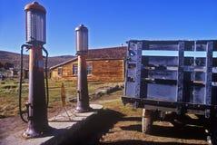 Antique gas pumps,  Bodie, CA Stock Photo
