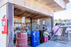 Antique gas pumps. Stock Images
