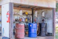 Antique gas pumps. Stock Photo