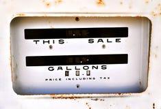 Antique gasoline dispenser Stock Image