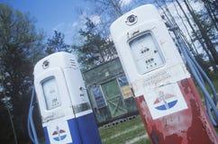 Antique gasoline pumps Stock Photos