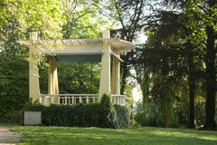 Antique gazebo in park Royalty Free Stock Photo