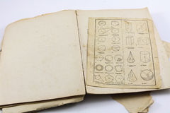 Antique Geometry Book Royalty Free Stock Photography
