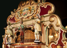 Antique german fairground organ playing Royalty Free Stock Photos
