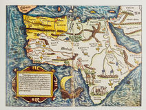 Antique German map of Africa Royalty Free Stock Photo