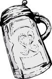 Antique German Tankard Drawing Royalty Free Stock Photos