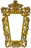 Antique gilded wooden Frame Isolated on white Stock Photos
