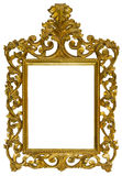 Antique gilded wooden Frame Isolated on white background Stock Image