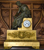 Antique gilt metal and bronze mantle clock Royalty Free Stock Photo