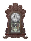 Antique gingerbread clock isolated. Stock Photography