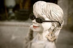 Antique girl mannequin Royalty Free Stock Photo