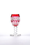 Antique Glass. An very old glass used for after dinner dessert drinks Stock Photo