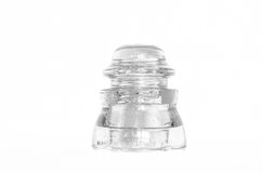 Antique, Glass, Electrical Power Insulator. Royalty Free Stock Photos