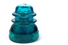 Antique glass insulator Stock Photography