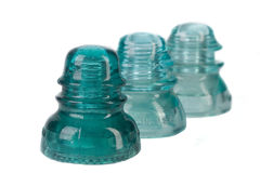Antique Glass telephone Insulator Royalty Free Stock Image