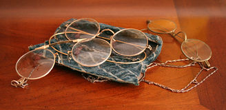 Antique Glasses Stock Images