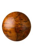 Antique globe. A antique globe on white for easy isolation Royalty Free Stock Photography