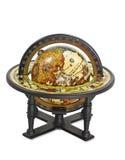 Antique globe. Isolated on white background royalty free stock photo