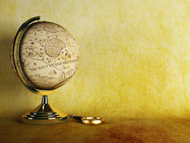 Antique globe stock illustration